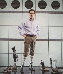 Dr. Hugh Herr with the Iwalk PowerFoot