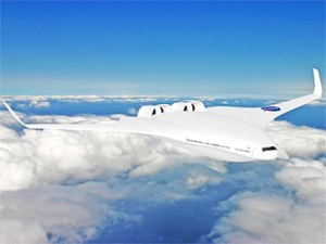 MIT also unveiled its 'hybrid wing body' H-series, which is intended to replace 777 class aircraft
